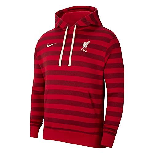 Nike 2021-2022 Liverpool Fleece Hoodie (rojo)