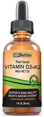 MAX Absorption, Vitamin D3 + K2 (MK-7) Liquid Drops with MCT Oil, Peppermint Flavor, Helps Support Strong Bones and Healthy Heart