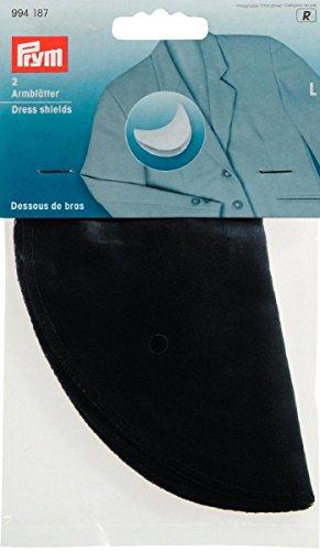 Prym Grand 2 pièces 100% Coton Robe Boucliers, Noir