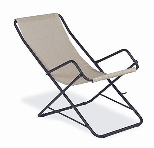 EMU Bahama Chaise longue en fer antique pour ameublement extérieur ou de jardin