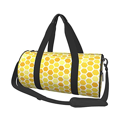 Lindo nido de abejas bolsas de viaje de viaje, gimnasio, deportes, equipaje grande bolsa de viaje durante la noche