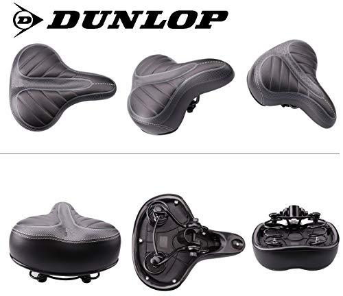 Dunlop FGS19 ergonomischer Cityrad Touring Gel Fahrradsattel, Damen Cityradsattel gefedert, Stoßresistenter weicher Gelsattel, Fahrrad Sattel extra gepolstert, Komfortsattel, schwarz - 3