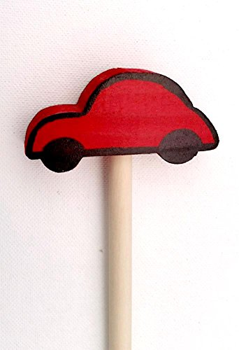 """Wooden Pointer, AA-730CAR36-36"""" Made in USA w/3"""" CAR & red Rubber end Cap, Perfect for Smart Board Screen."""