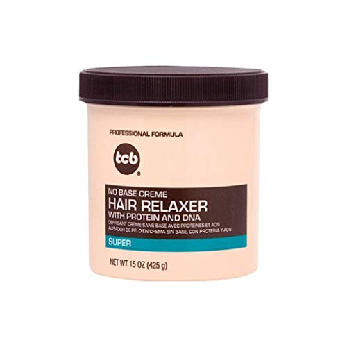 TCB Professional No Base Creme Hair Relaxer Super Strength 425 g/15 oz