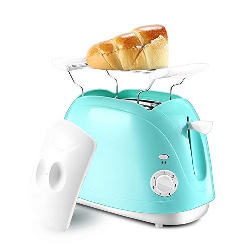 YHSFC Start Automatik Toaster 2-Scheiben Brotbackautomaten Frühstück Maker Sandwich Brot-Scheibe Toaster Blau 220V 750W