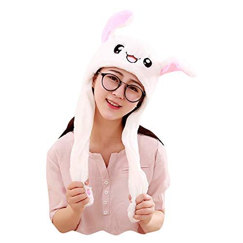 Yimidear Sombrero de Conejo, Linda Saltando Oreja Conejito de Peluche para Mujeres, Chicas, Chicos, Incluso Hombres (Conejo) (Conejo)