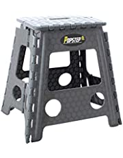 PopStep XL Large Folding Step Stool 15 inches 39cm High Anti Slip Top. Compact Folding Stool Easy To Store, Perfect Kitchen Step or Bathroom Step