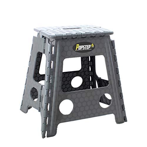 PopStep XL Tritthocker, zusammenklappbar, 39 cm hoch, rutschfeste Oberseite. Kompakter Klapphocker, einfach zu verstauen, perfekt für Küche oder Badezimmer