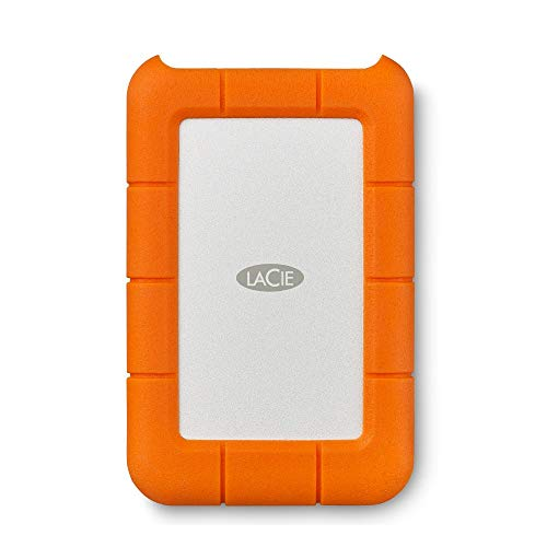 LaCie Rugged Mini, tragbare externe Festplatte 2 TB, 2.5 Zoll, USB 3.0, Mac & PC, inkl. 2 Jahre Rescue Service, Modellnr.: LAC9000298