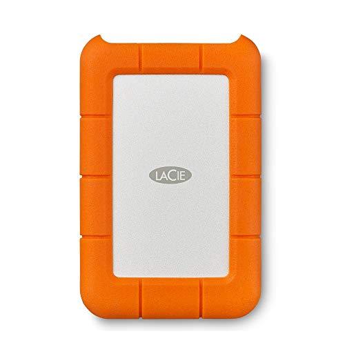LaCie Rugged Mini, tragbare externe Festplatte 4 TB, 2.5 Zoll, USB 3.0, Mac & PC, Modellnr.: LAC9000633