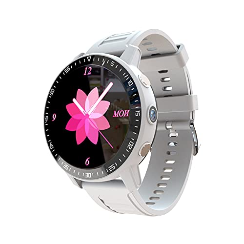 QNMM Inteligente Reloj para Los Hombres, Reloj Inteligente 4G Completa Netcom con El Seguimiento Y El Posicionamiento de Petición de Ayuda, Monitor de Ritmo Cardíaco Deportes SmartWatch