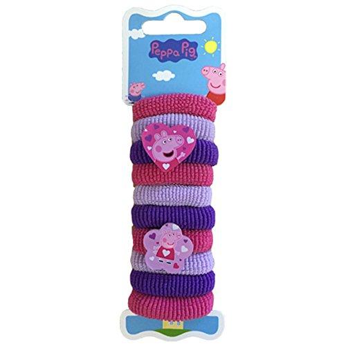 Joy Toy 901682 - vlechtjeshouder Peppa Pig 10 stuks