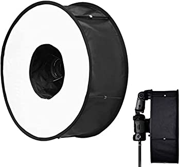 Geiomoo Flash Diffuser Light Softbox Portable Universal Round Speedlight Soft Box with Carry Pouch for Portrait and Macro Photography  Flash Diffuser