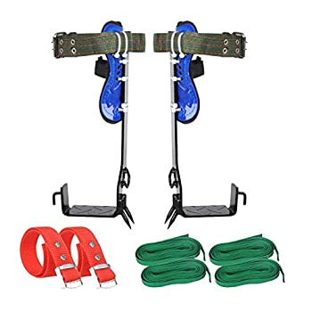 TWSOUL Tree Climbing Spike 2 Gears Tree Climbing Tool Adjustable Climbing Tree Shoes with Non-Slip Pedal for Hunting Observation Picking Fruit Jungle Survival