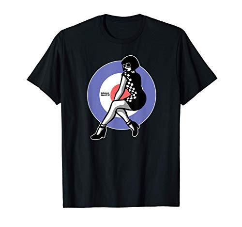 Oxblood Clothing Mod Ska Scooter Girl Target T-shirt