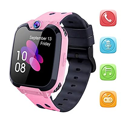 Kids Smart Watch for Boys Girls - HD Touch Screen Sports Smartwatch Phone with Call Camera Games Recorder Alarm Music Player for Children Teen Students by MeritSoar