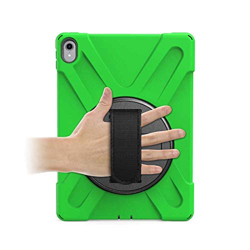GHC PAD Cases & Covers For iPad Pro 11 2018 11'', Kids Cover New 360 Armor Case 360 Rotation Hand Strap Silicon PVC Cover for iPad Pro 11 (Color : Ary Green)