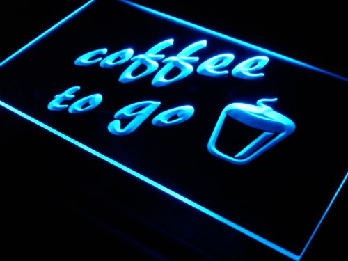 ADVPRO s016-b Coffee to Go Shop Bar Pub Neon Light Sign Barlicht Neonlicht Lichtwerbung