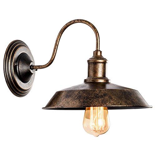 Preisvergleich Produktbild Wandleuchte RustikalWandlampe Antik Metall Wandlampe Retro Wandlampe Vintage Innen für Lanhaus,  Dachboden,  Terrasse,  Restaurant,  Café,  Wohnzimmer und Studie (Gemalt Mit Öl Gerieben Bronze)