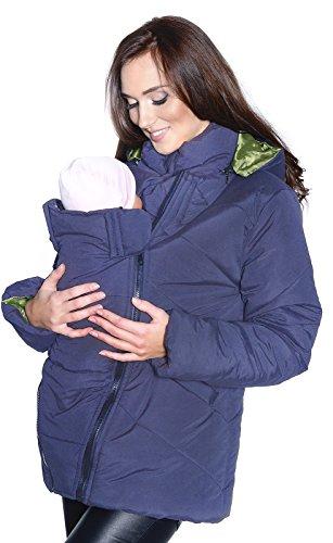 Mija / 3 in1 Tragejacke Umstandsjacke für Tragetuch Winterjacke für beide 1108A (S, Blau)