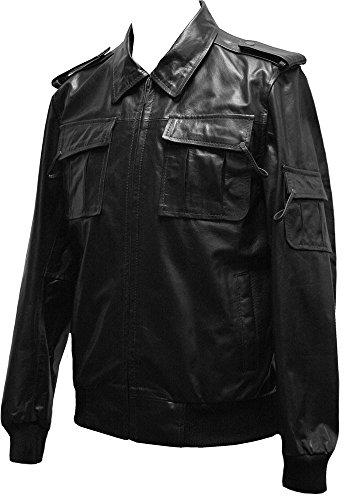 Leatherbox -  Giacca - Giacca - Uomo Black X-Large (Adatto Petto Fino 112 cm)