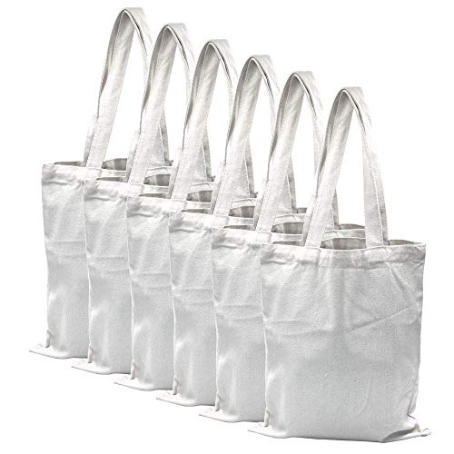 Bolsa para Compras,Bolsas de lona Reutilizables,Bolsa de supermercado lavable,Craft Canvas Bag Bolso de…