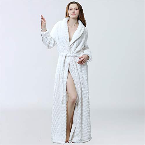 Lange Kapuze Robe für Frauen weiche Badeanschlüsse-Bademantel Winter-warmes...