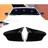 QWERQF ABSブラックリアビューミラーハウジングカバーキャップ-サイドドアミラーカバー,シボレーマリブXL2016-2020右カーボンパターンの場合