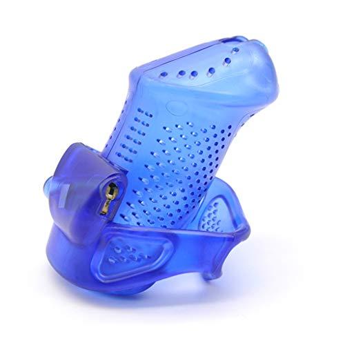 LXJ-KLD Produits pour Adultes Dispositif de Cage de chasteté en Plastique pour pénis Masculin Exercice Sexuel Fétiche Homme érotique Reste Fétiche Cock Cage,Blue