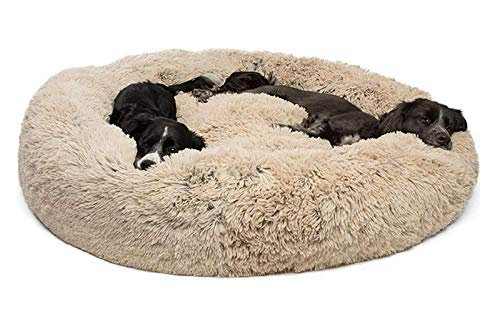 DUCHEN Weiches Hundebett kuscheliges Haustierbett Korb Donut Hundehöhle Kuschelkissen Warme Bequeme Hundesofa für Mittelgroße und Große Hunde XXL-100cm