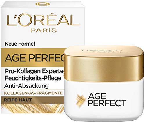 L'Oréal Paris Straffende Augenpflege für reife Haut, Anti-Aging Feuchtigkeitspflege gegen Altersflecken, Mit Kollagen-AS-Fragmenten, Age Perfect Pro-Kollagen Experte, 15 ml