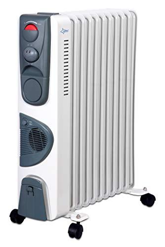 SUNTEC Radiator Heat Safe 2500 [Für Räume bis 60 m³ (~25 m²), 3 Leistungsstufen + Schnellheizgebläse, Leichtlauf-Rollen, 2000 Watt]