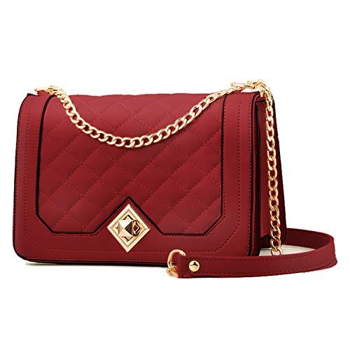 Travistar Borsa a tracolla Donna Catena Borsa a Spalla - Borsa Mano PU Pelle Messenger Crossbody Bag - Elegante Tasche Borse a tracolla