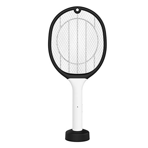 2 en 1 USB recargable eléctrico Mosquito Fly Bug Swatter Racket Anti-Mosquito Killer Lámpara para el hogar Dormitorio Sala de estar C