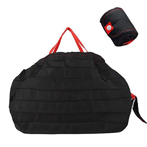 Miuphro エコバッグ 折りたたみ 一気にたためるエコバッグ コンパクトバッグ 買い物袋 ショッピング 超軽 防水 大容量 収納便利