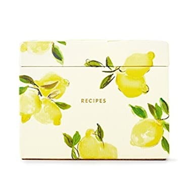 Kate Spade New York Lemon Recipe Box