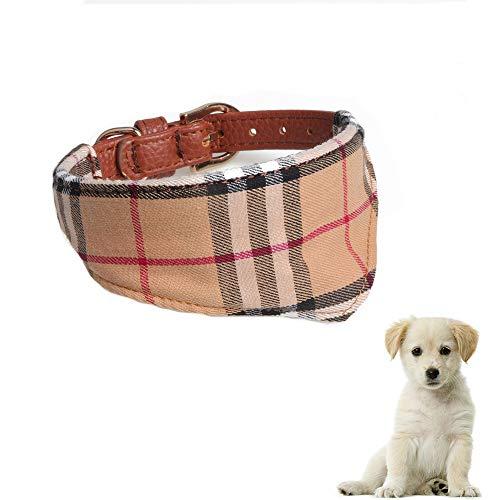 HundeHalstuch Halsband, Kariertes Hundehalstuch, Baumwolle Dreieck Schal Welpen, Hunde Bandana Halsbänder, Einstellbar 9,4-11,8 Zoll, Geeignet für Welpen Katzen kleine Haustiere