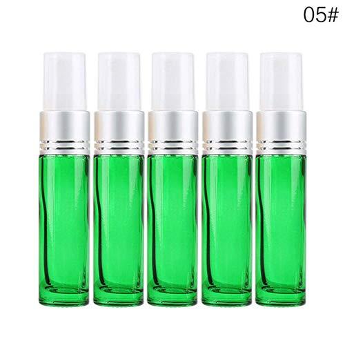 QPM 5 stks 10 ml Spray fles lege verstuiver parfum flessen Mini vloeibare etherische olie cosmetische container 15 kleur optioneel