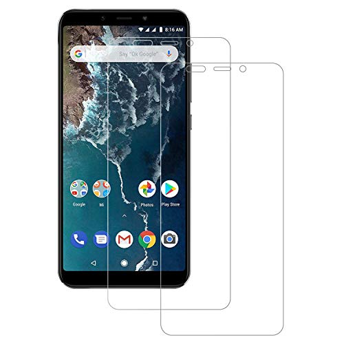 Senisttech Panzerglas Schutzfolie für Xiaomi Mi A2 - [2 Stück] 9H Härte Displayschutzfolie, 99% Transparenz, 3D Touch Kompatibel, Anti-Fingerabdruck Panzerglasfolie für Mi A2