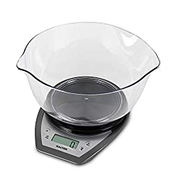 THE UK'S NO. 1 BRAND FOR KITCHEN SCALES: Salter Housewares began in 1760 and has continued to grow within the housewares business. We back them with a 15 year guarantee! EASY-TO-READ: The display allows you to see weight measurements for each platfor...