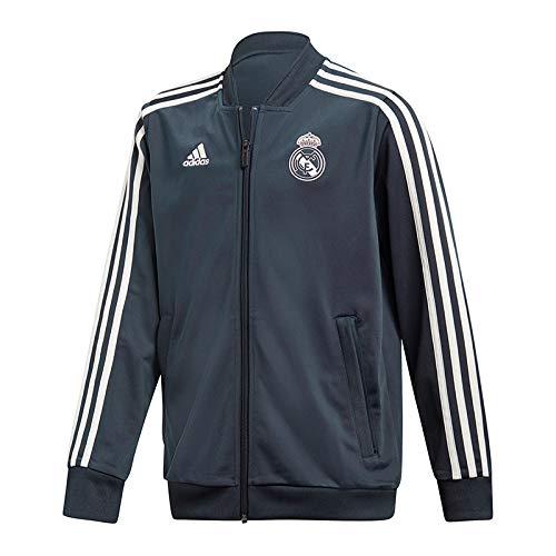 adidas Real Madrid - Chaqueta de poliéster para niño, Unisex niños, Chaqueta, CW8635, Tech Onix/Core White, 13-14