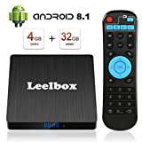 Android 9.0 TV BOX, Android Box 4 GB RAM 32 GB ROM, Leelbox Q4s RK3328...