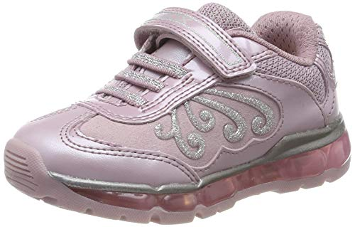 Geox Mädchen J Android Girl A Sneaker, Pink (Pink/Silver C0514), 34 EU