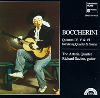 Boccherini: Quintets IV, V & VI for String Quartet & Guitar
