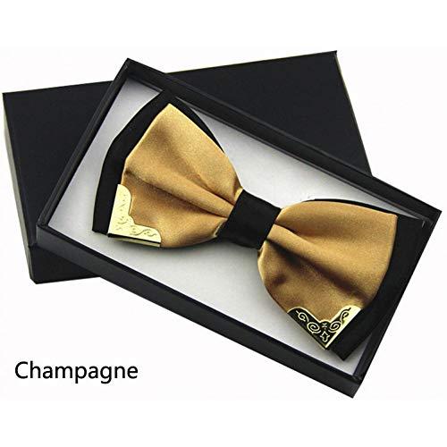 ZJWLL Herrenmode Stilvolle Fliege Männer und Frauen Hochzeitsbankett Fliege Schlanke Schwarze Fliege Fliege, Champagner