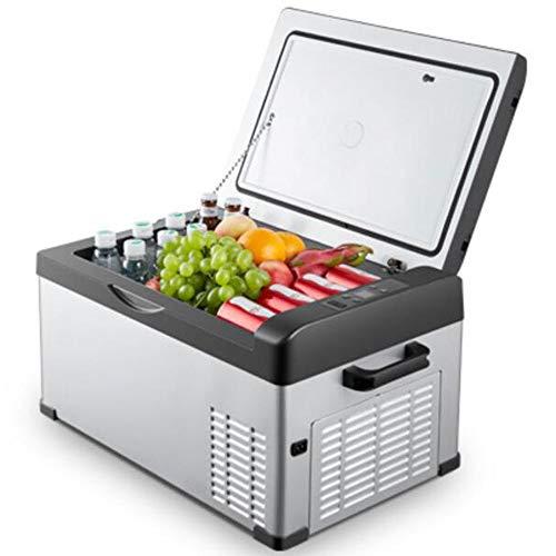 LIJING Congeladores Mini Portátil,Compresor Control Temperatura Compacto Bajo Consumo Energía Coche Nevera 12V24V-Bajo Consumo Energía Dormitorio Automóvil Camping Oficina