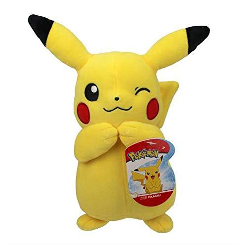 Auswahl Pokemon Plüsch-Figuren | 20 cm Plüsch-Tier | Stofftier | Kuscheltier, Plüsch:Zwinker Pikachu