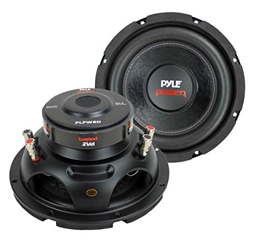 2) PYLE PLPW8D 8' 1600W Dual Voice Coil 4-Ohm Car Audio Subwoofers Speakers