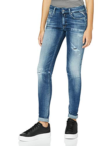 Replay Damen New LUZ Jeans, 009 MEDIUM Blue, 3030