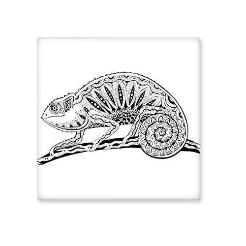 Larga cola lagarto Animal Portrait Sketch cerámica crema decoración de azulejos baño cocina azulejos de pared azulejos de cerámica